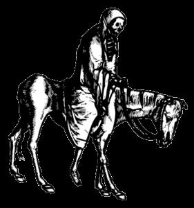 A draugr on a horse