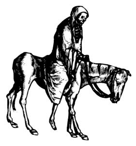 A draugr on a dead horse